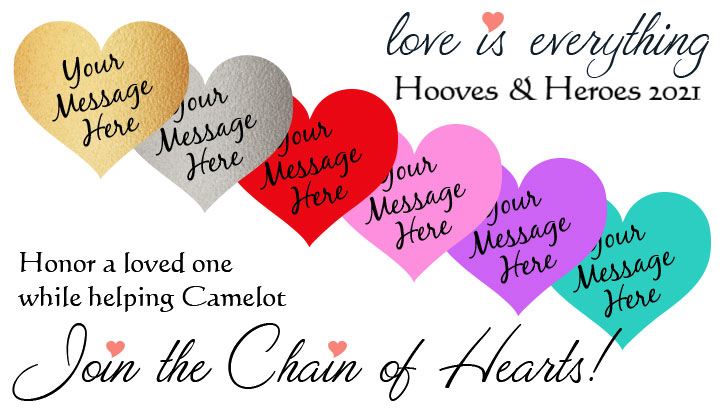love is everything - hooves & heroes 2021 - join the chain of hearts